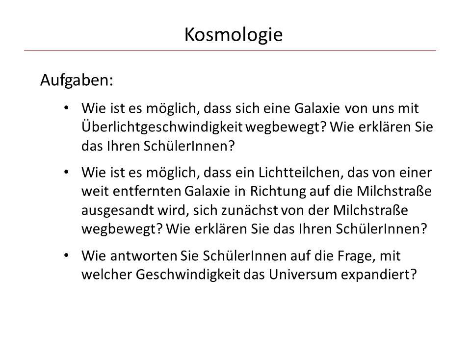 Kosmologie Aufgaben: