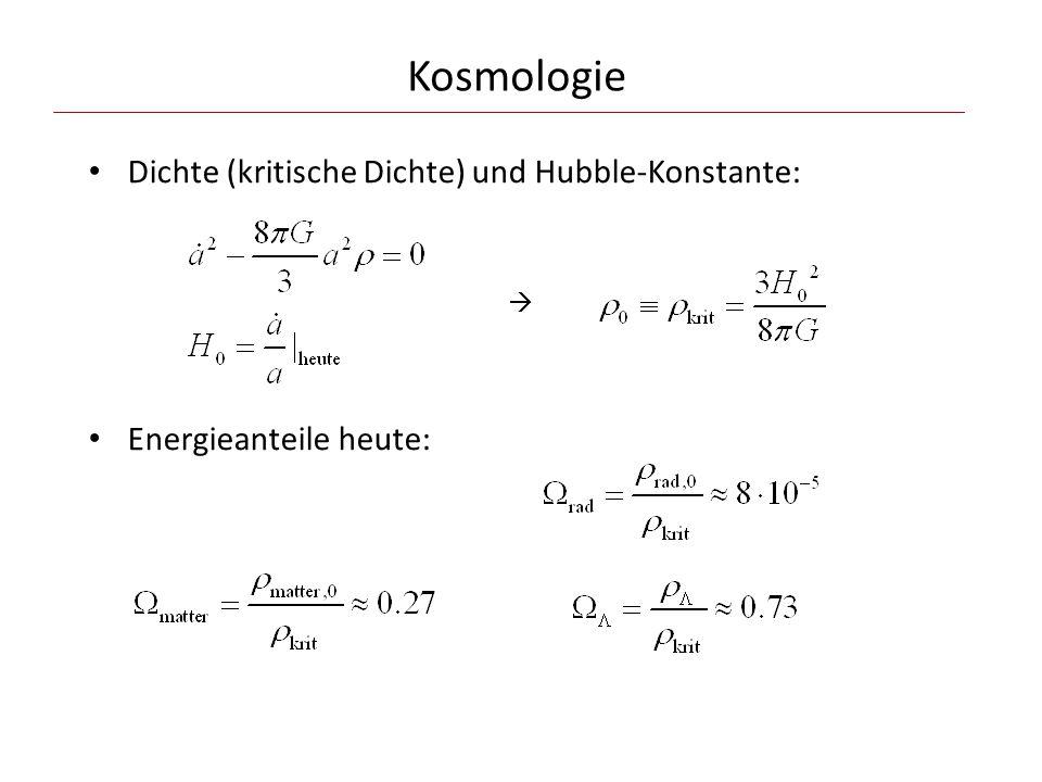 Kosmologie Dichte (kritische Dichte) und Hubble-Konstante: