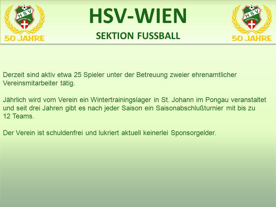 HSV-WIEN SEKTION FUSSBALL www.heeres-sv.at