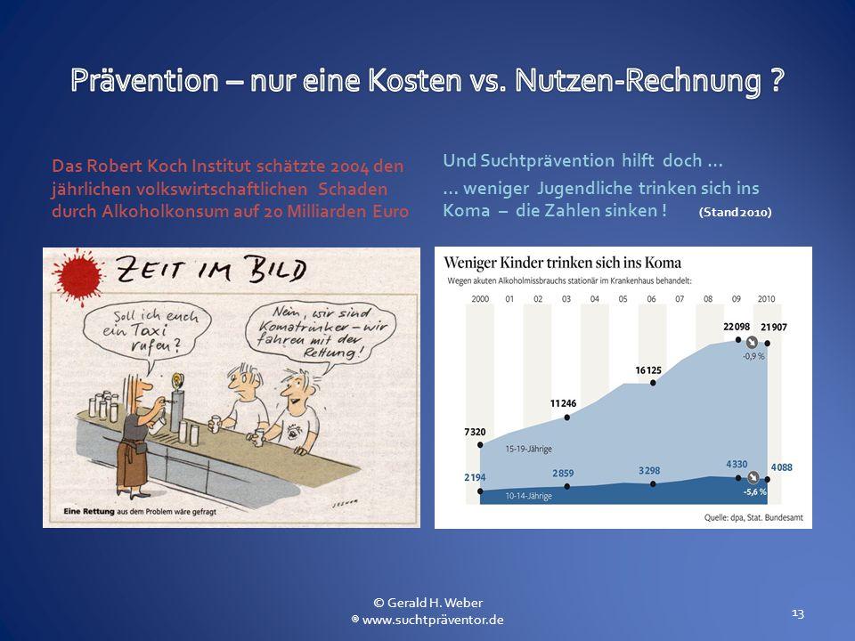 Prävention – nur eine Kosten vs. Nutzen-Rechnung