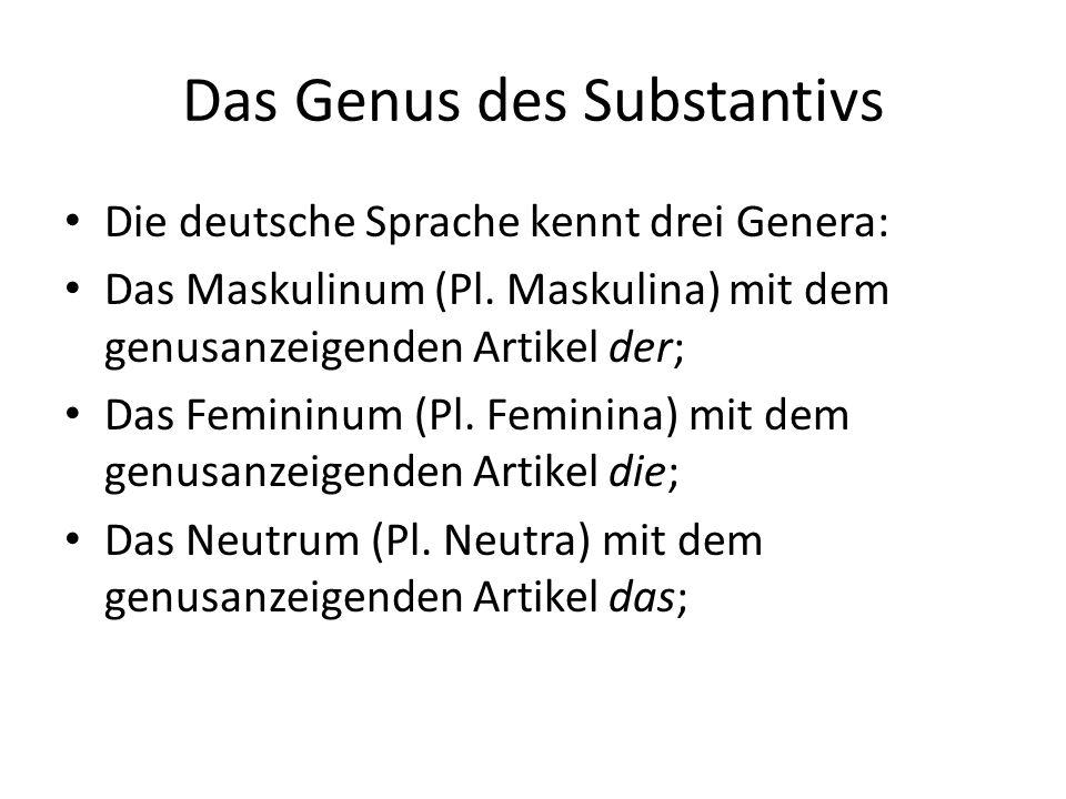 Das Genus des Substantivs