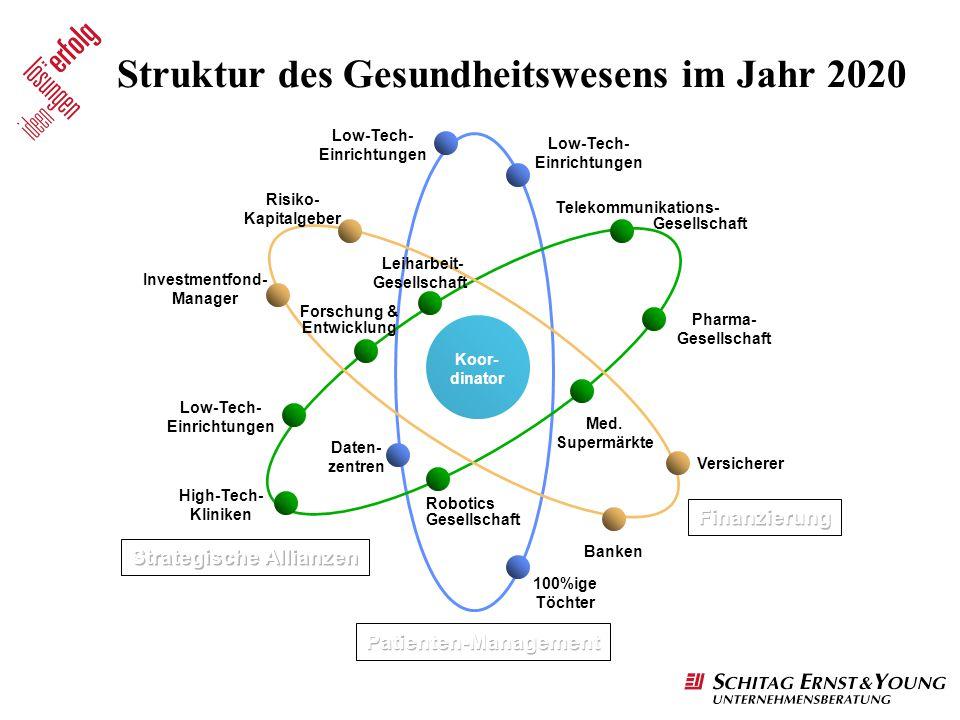 Struktur des Gesundheitswesens im Jahr 2020
