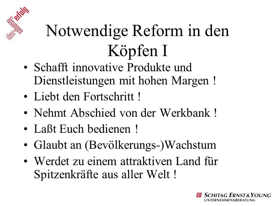Notwendige Reform in den Köpfen I
