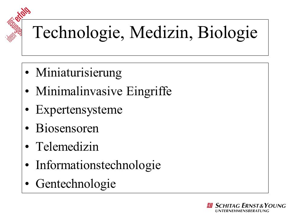 Technologie, Medizin, Biologie