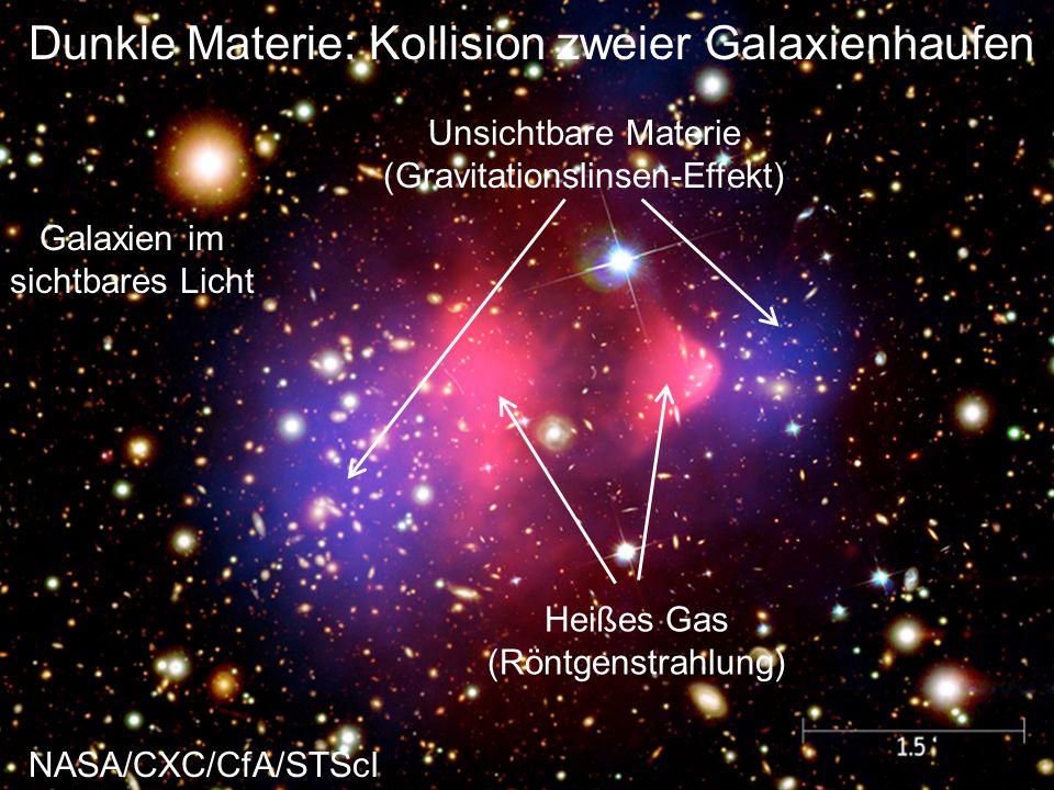 Dunkle Materie: Kollision zweier Galaxienhaufen