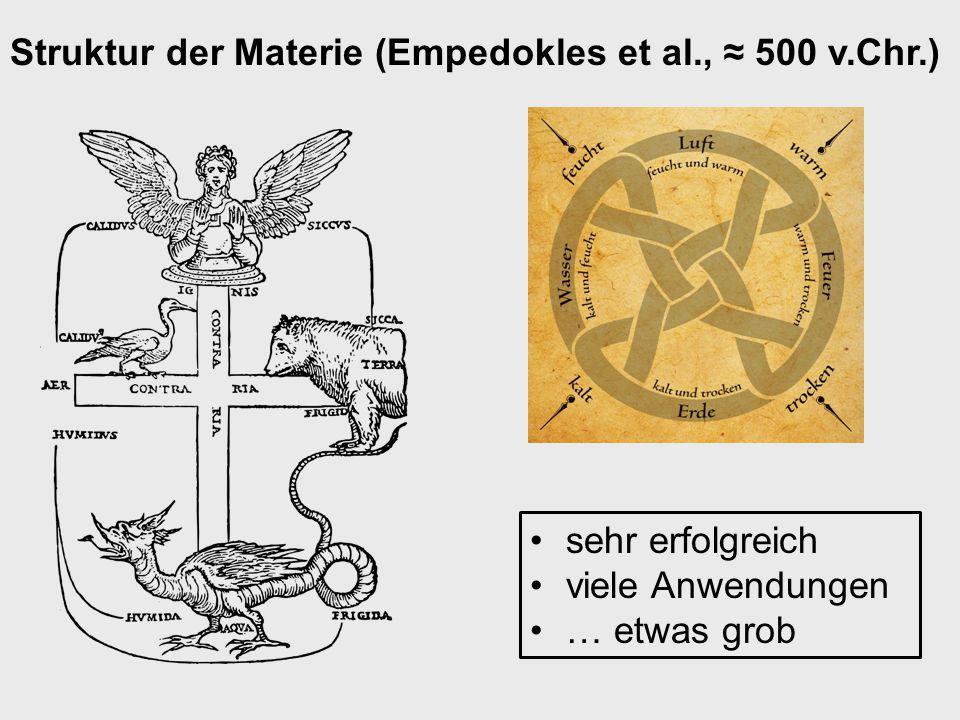Struktur der Materie (Empedokles et al., ≈ 500 v.Chr.)