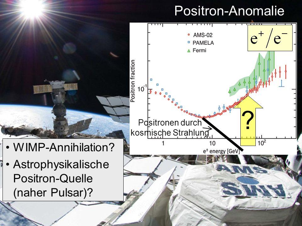 Positronen durch kosmische Strahlung