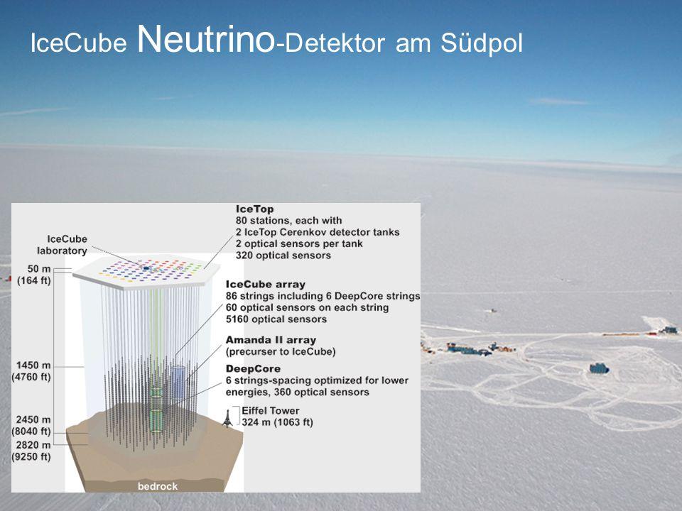 IceCube Neutrino-Detektor am Südpol