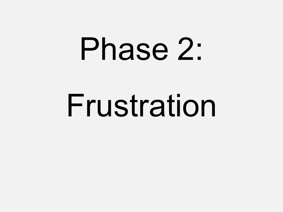 Phase 2: Frustration