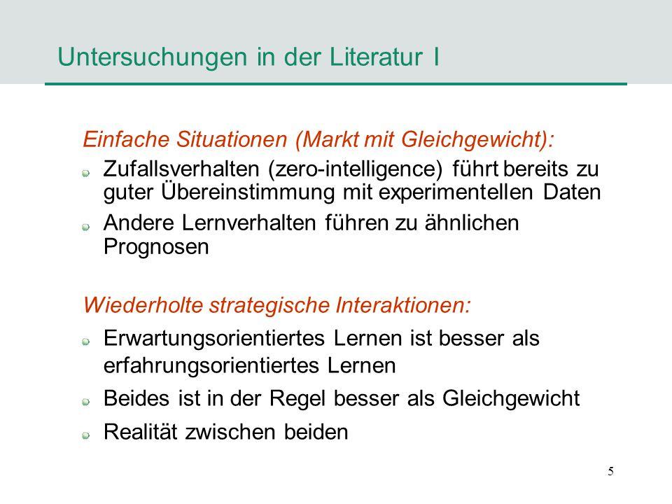 Untersuchungen in der Literatur I