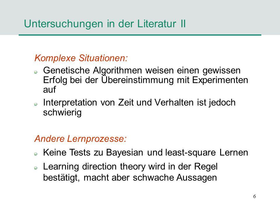Untersuchungen in der Literatur II