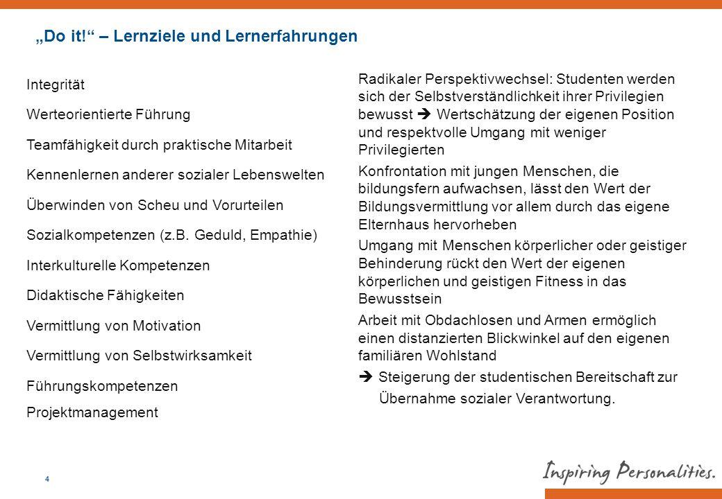 """""""Do it! – Lernziele und Lernerfahrungen"""