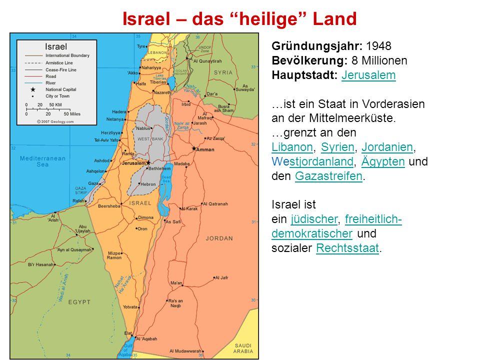Israel – das heilige Land