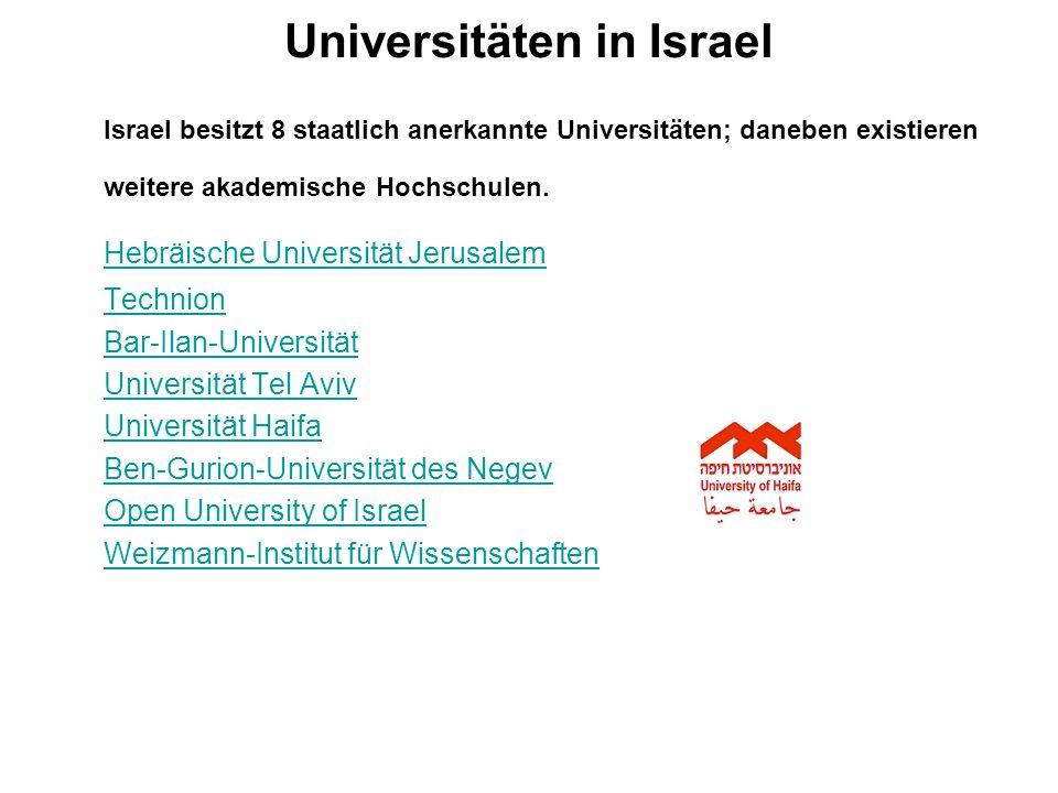 Universitäten in Israel