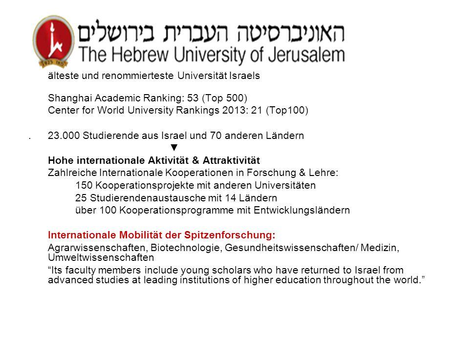 älteste und renommierteste Universität Israels