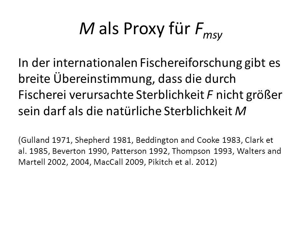 M als Proxy für Fmsy