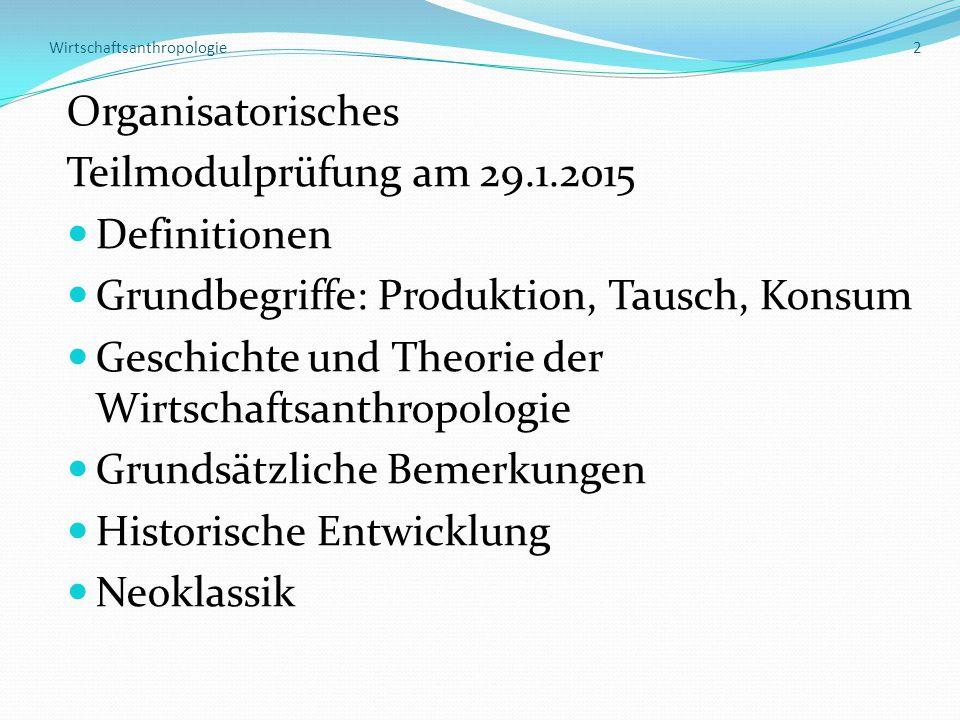 Wirtschaftsanthropologie 2