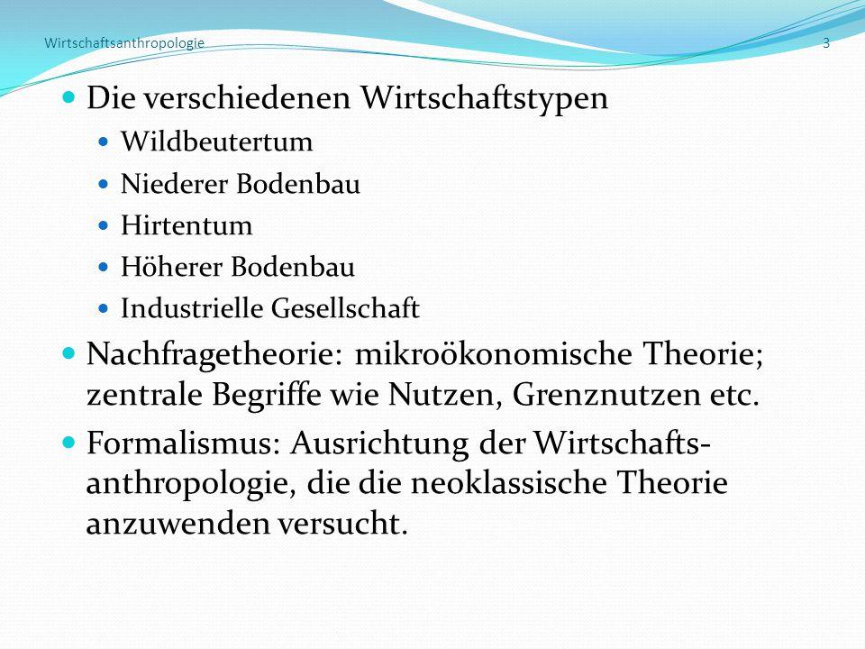 Wirtschaftsanthropologie 3