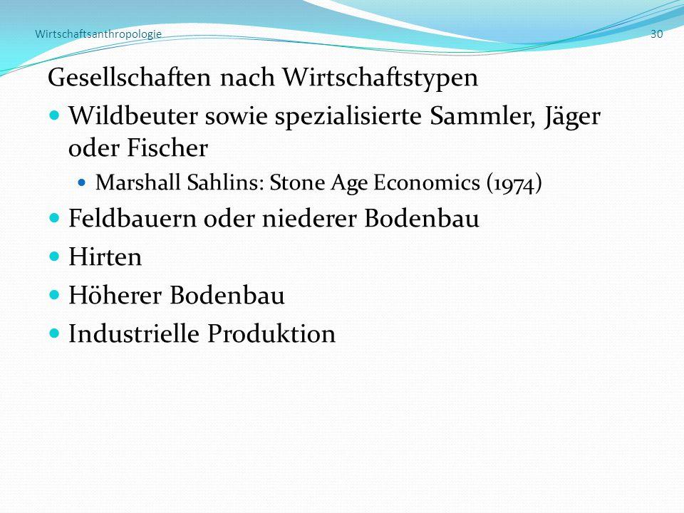 Wirtschaftsanthropologie 30
