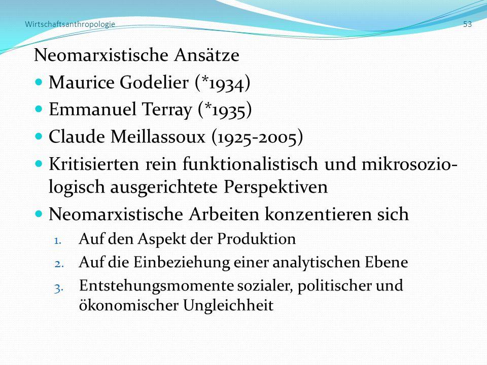 Wirtschaftsanthropologie 53