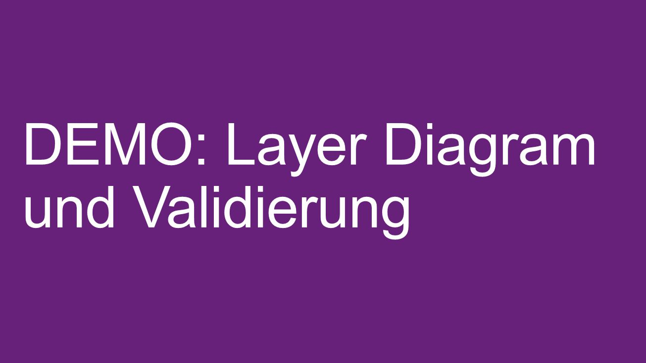 DEMO: Layer Diagram und Validierung