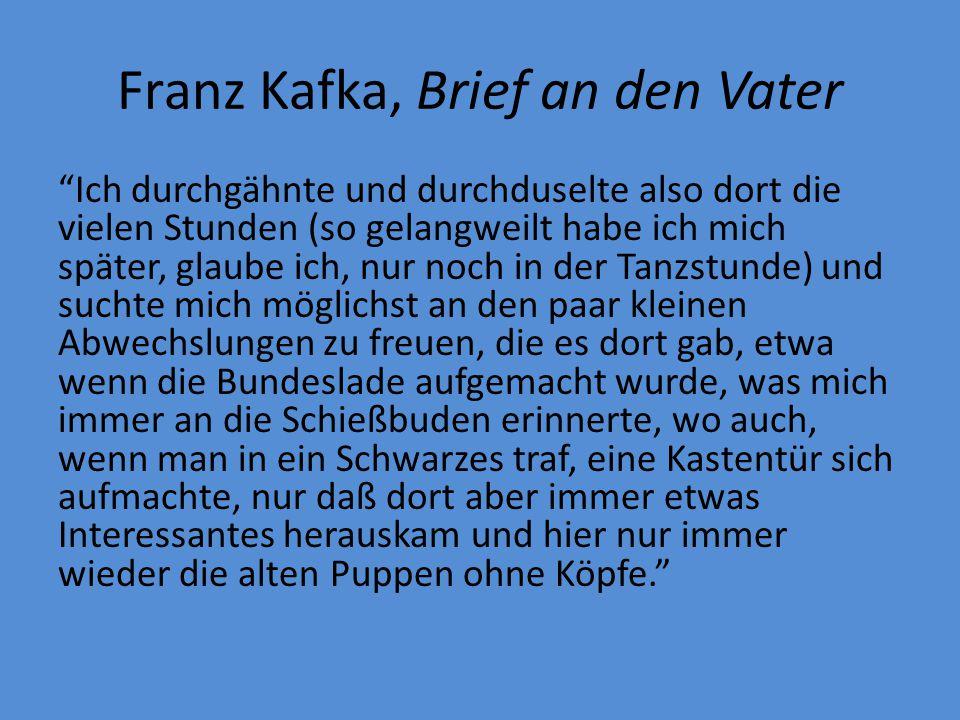 Franz Kafka, Brief an den Vater