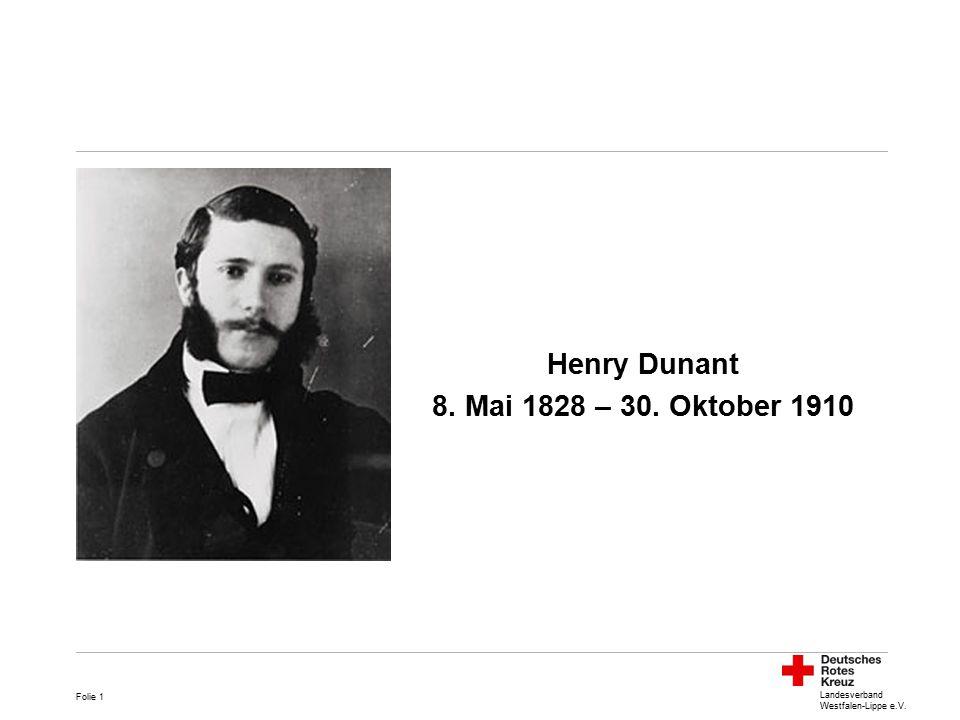 Henry Dunant 8. Mai 1828 – 30. Oktober 1910