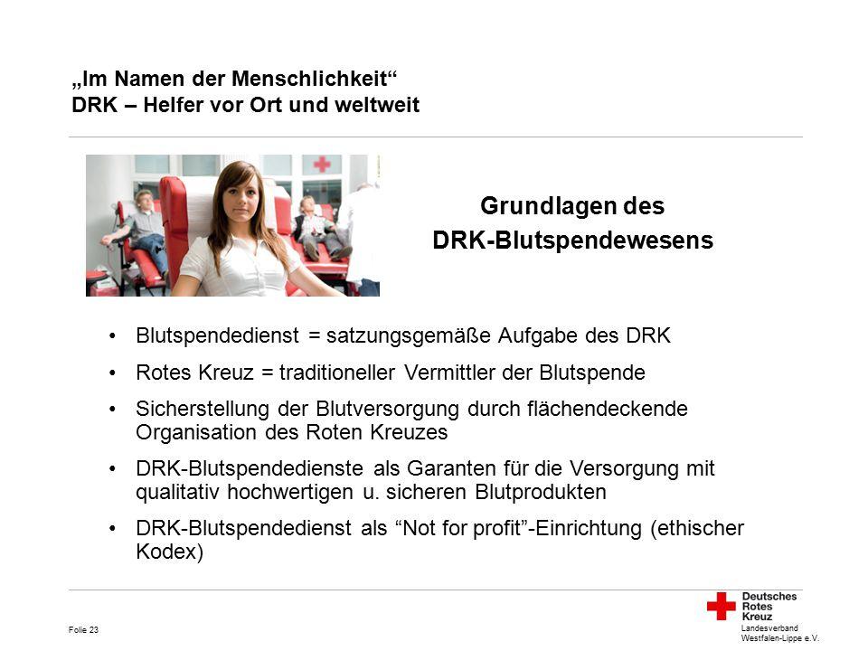 """""""Im Namen der Menschlichkeit DRK – Helfer vor Ort und weltweit"""