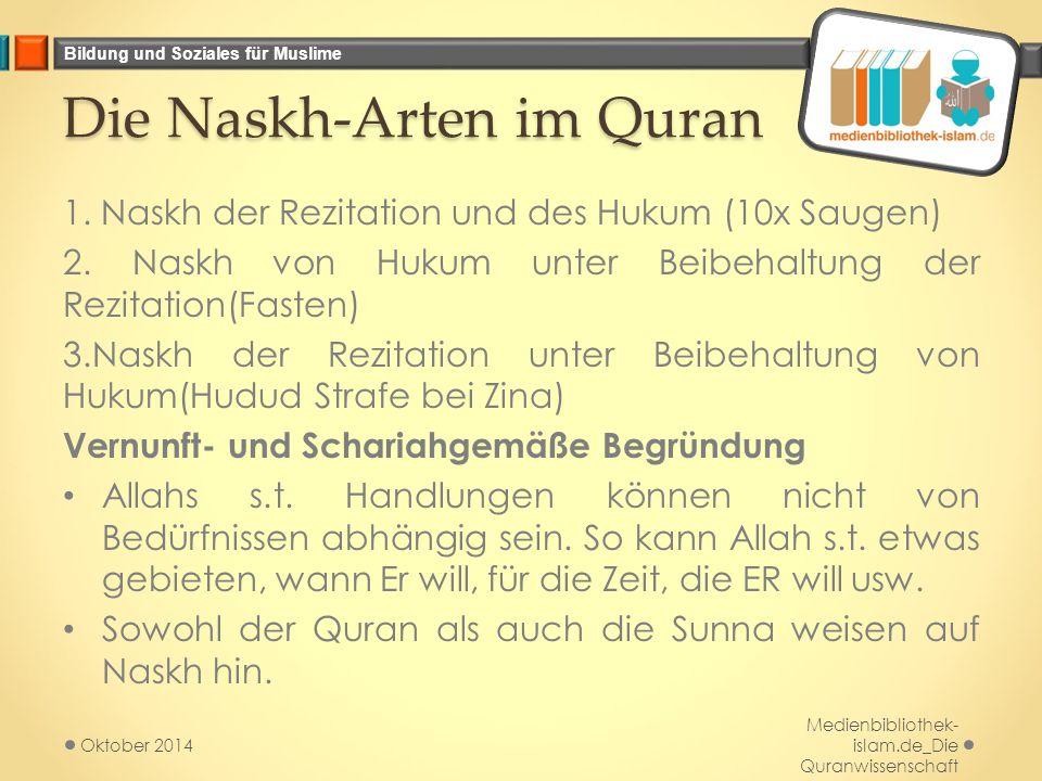 Die Naskh-Arten im Quran
