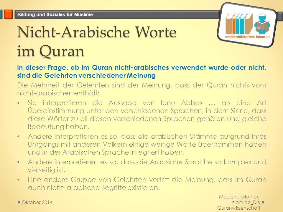 Nicht-Arabische Worte im Quran