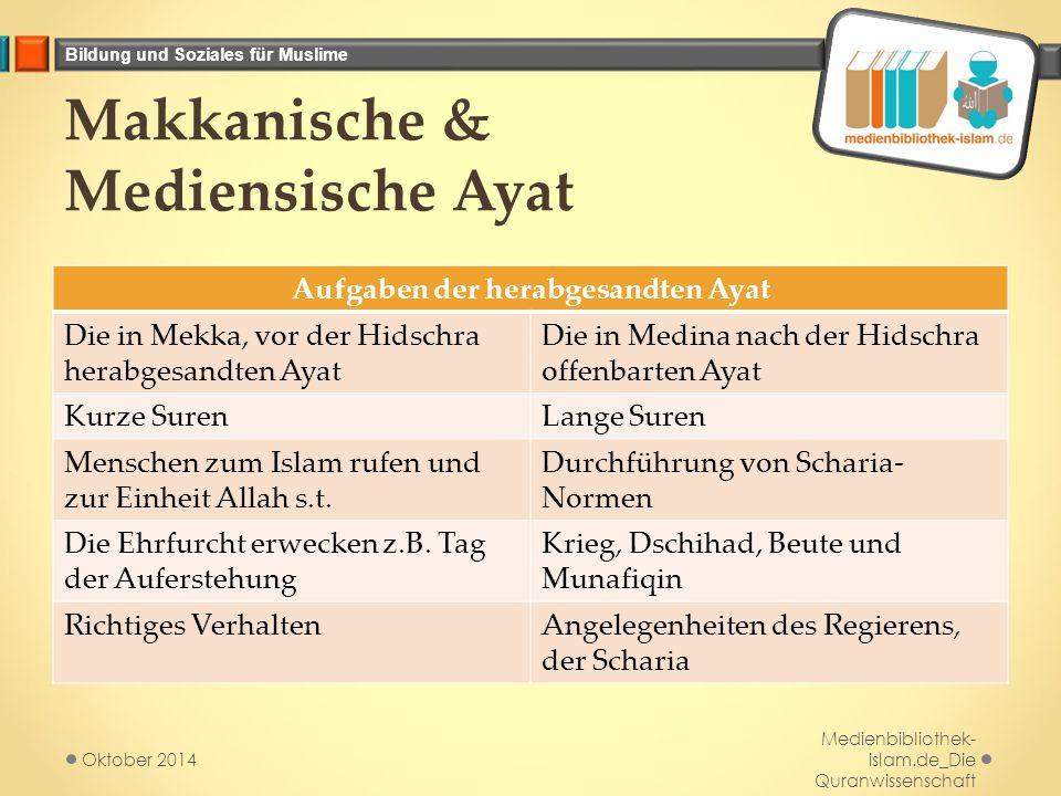 Makkanische & Mediensische Ayat