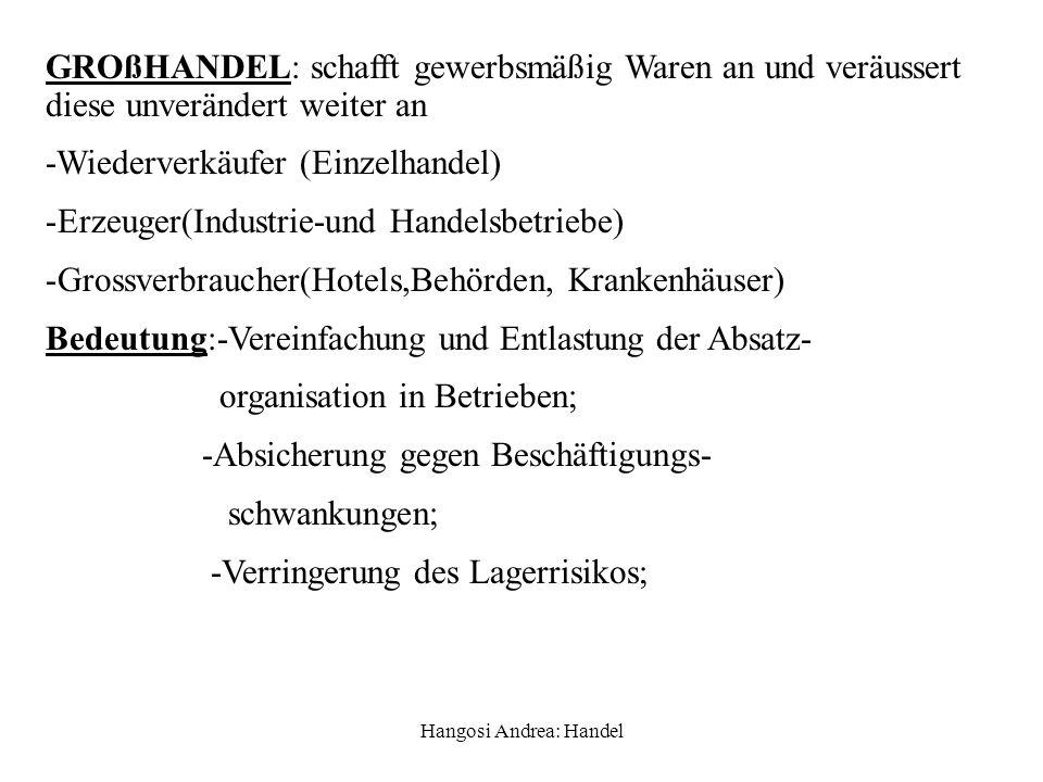 Hangosi Andrea: Handel