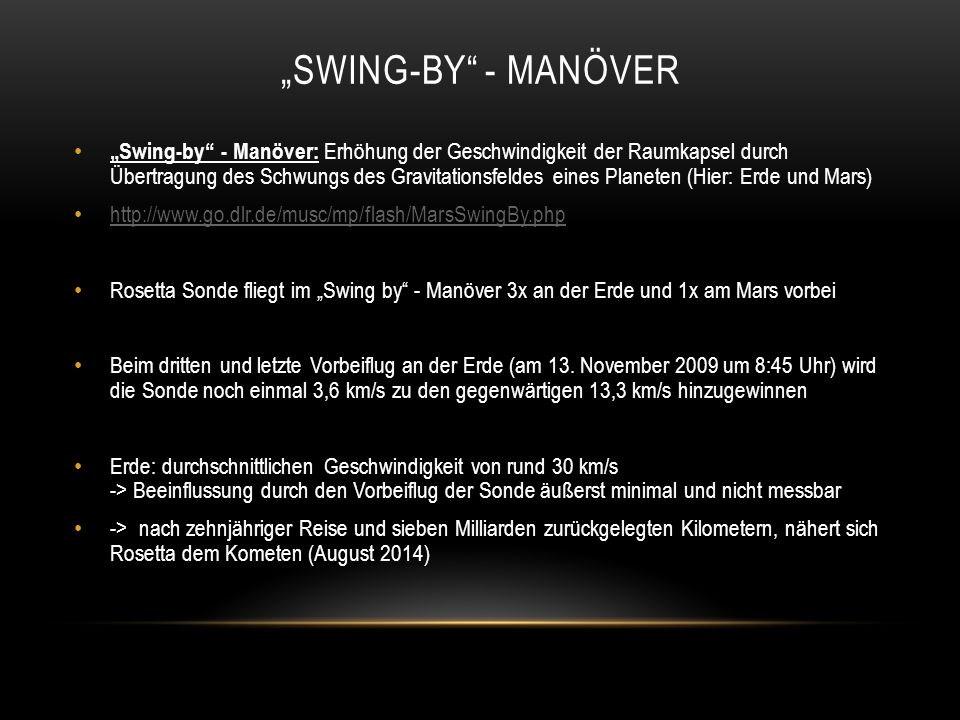 """Swing-by - manöver"