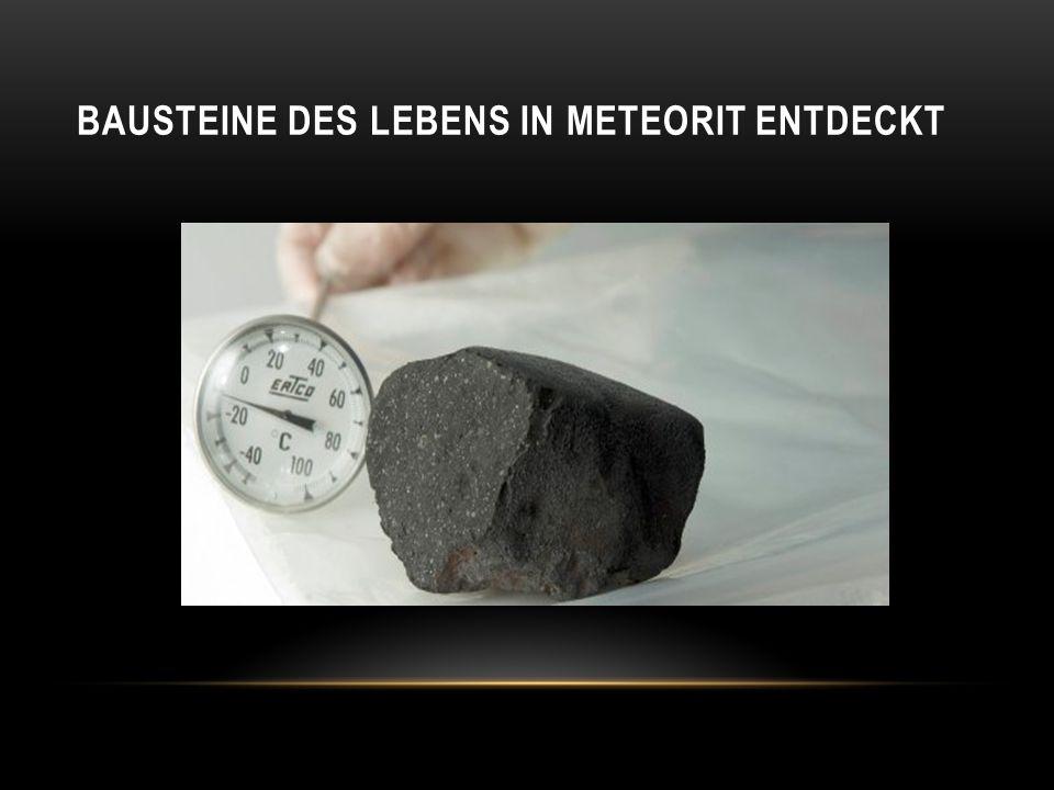 Bausteine des Lebens in Meteorit entdeckt