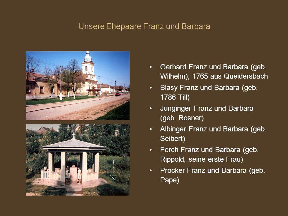 Unsere Ehepaare Franz und Barbara