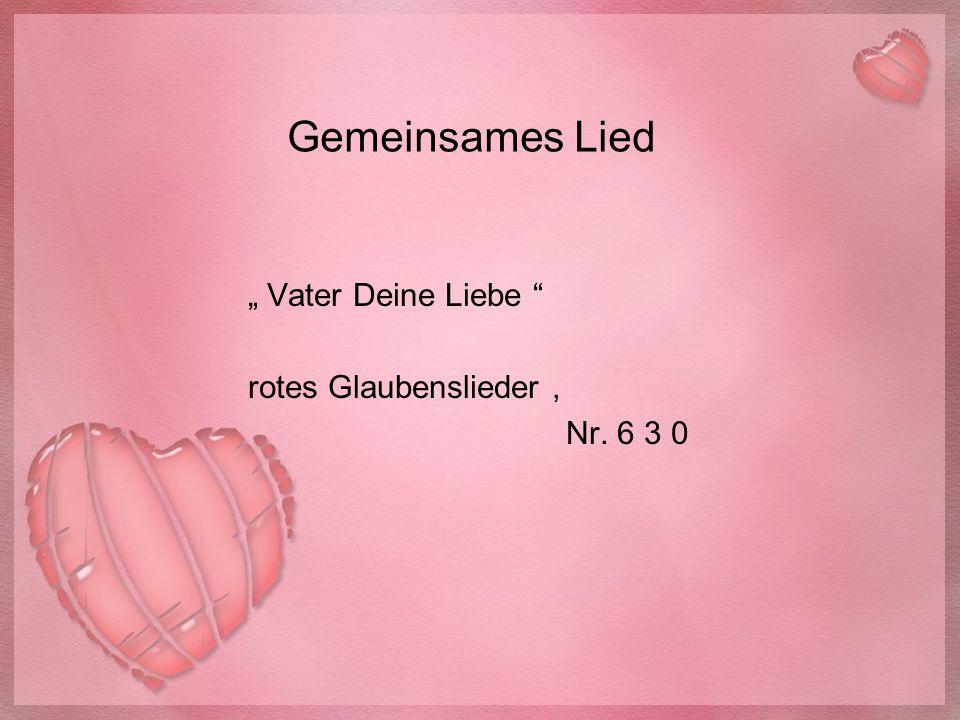 """"""" Vater Deine Liebe rotes Glaubenslieder , Nr. 6 3 0"""