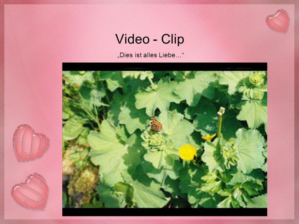 """Video - Clip """"Dies ist alles Liebe…"""