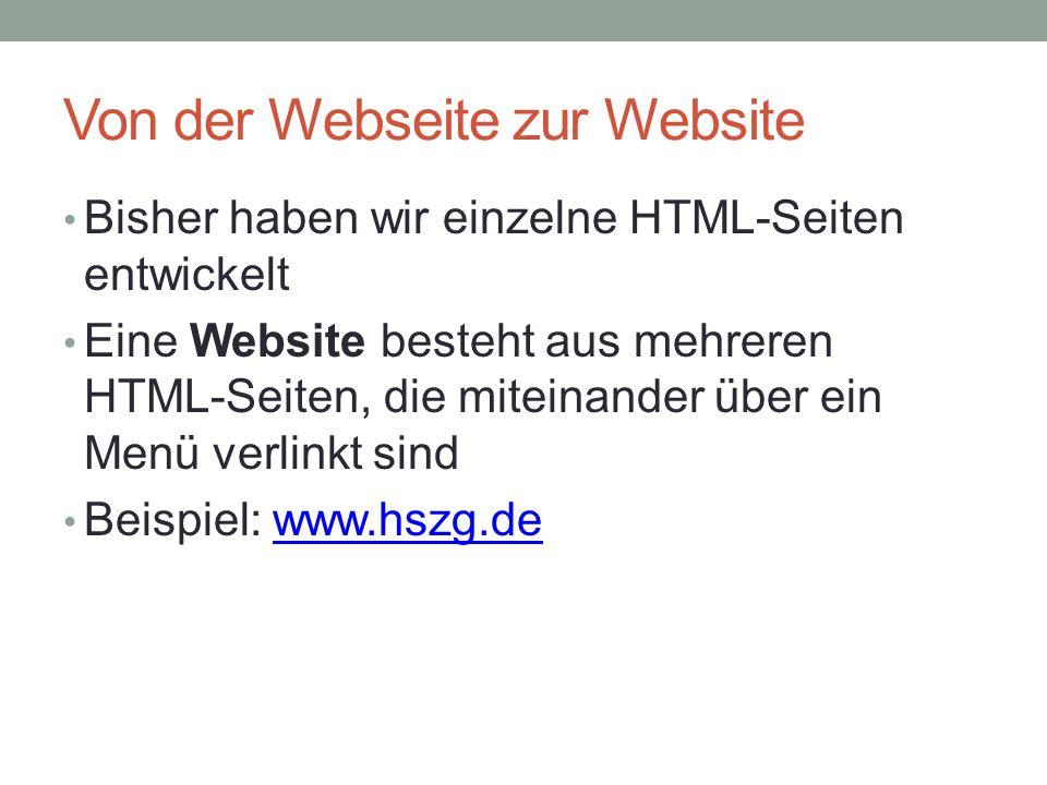Von der Webseite zur Website