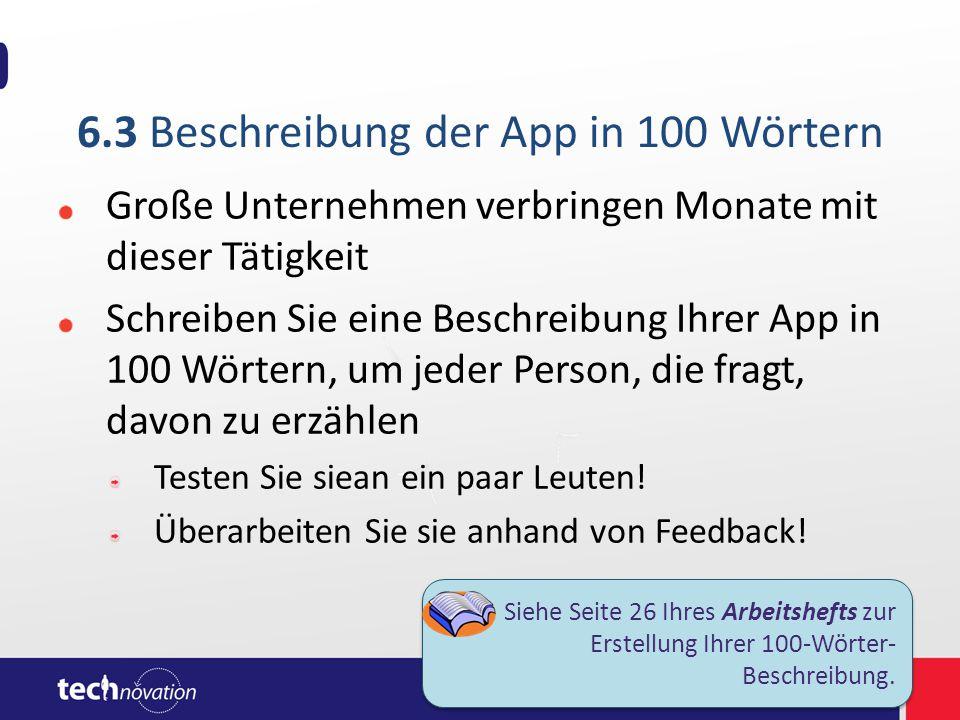 Beispiel einer App-Beschreibung