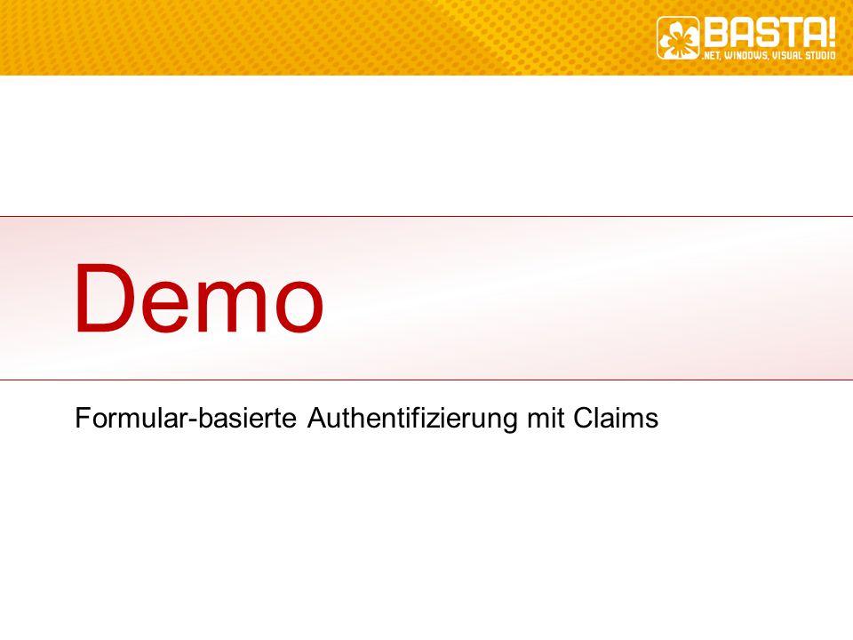 Demo Formular-basierte Authentifizierung mit Claims