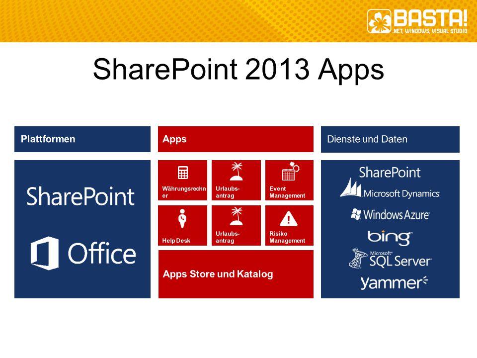 SharePoint 2013 Apps Plattformen Apps Apps Store und Katalog
