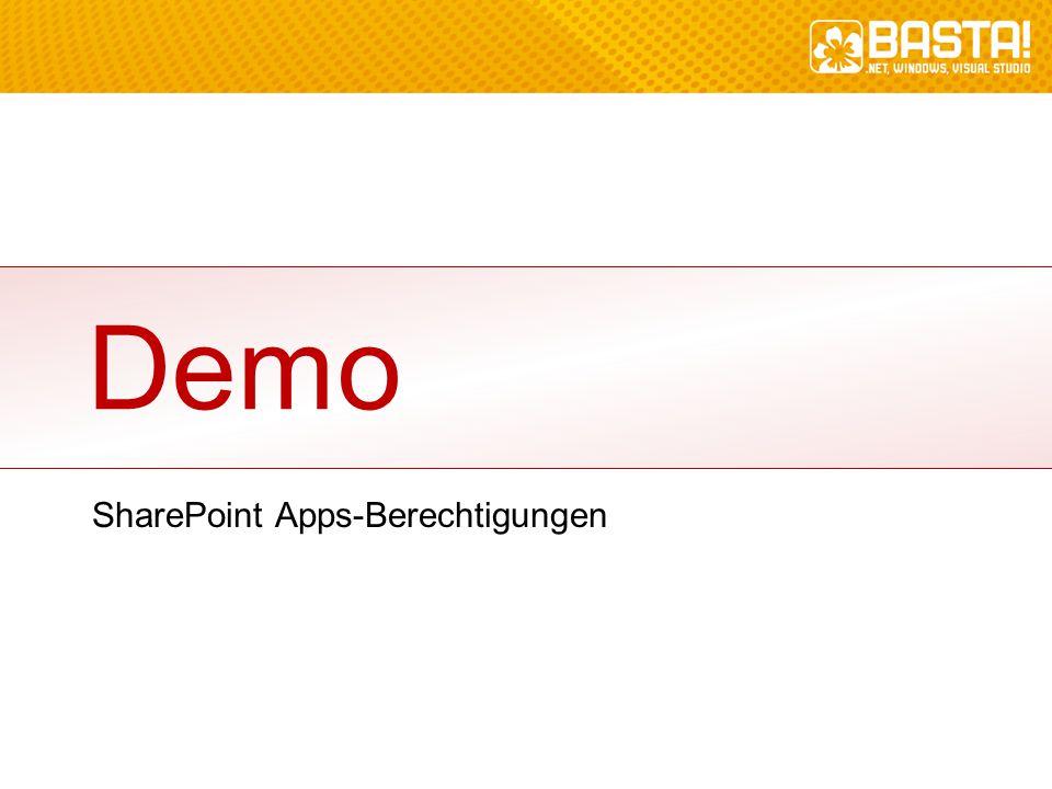 Demo SharePoint Apps-Berechtigungen