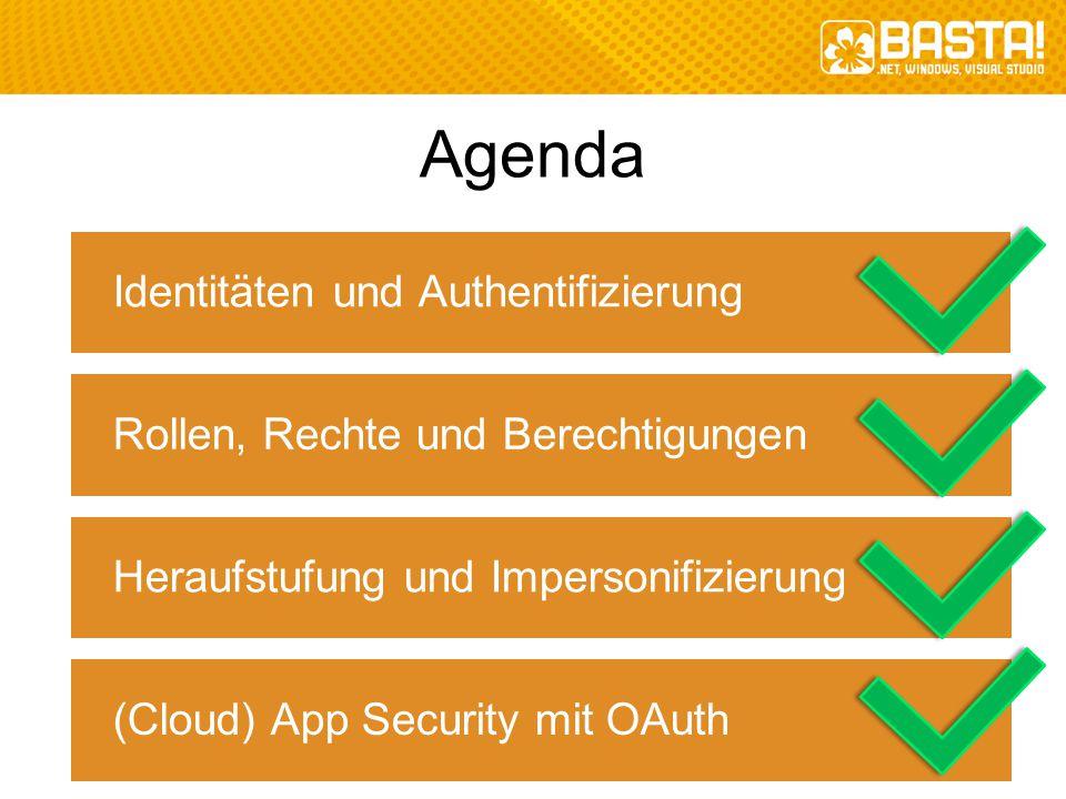 Agenda Identitäten und Authentifizierung