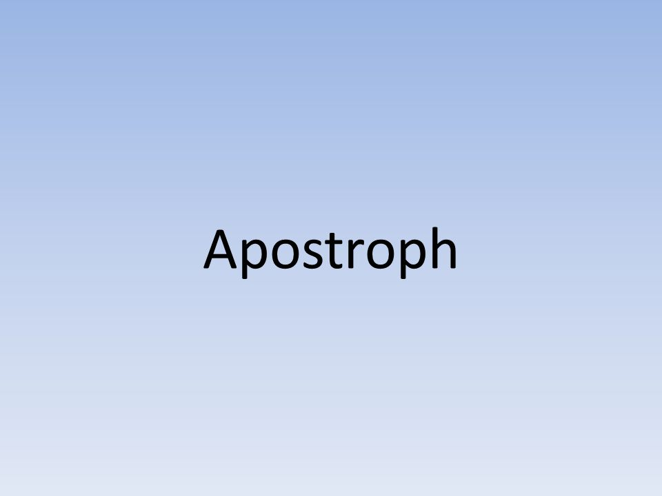 Apostroph