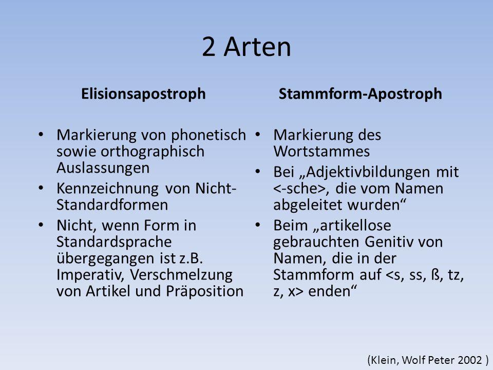 2 Arten Elisionsapostroph