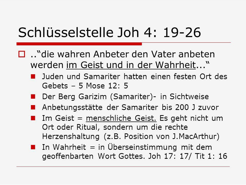 Schlüsselstelle Joh 4: 19-26