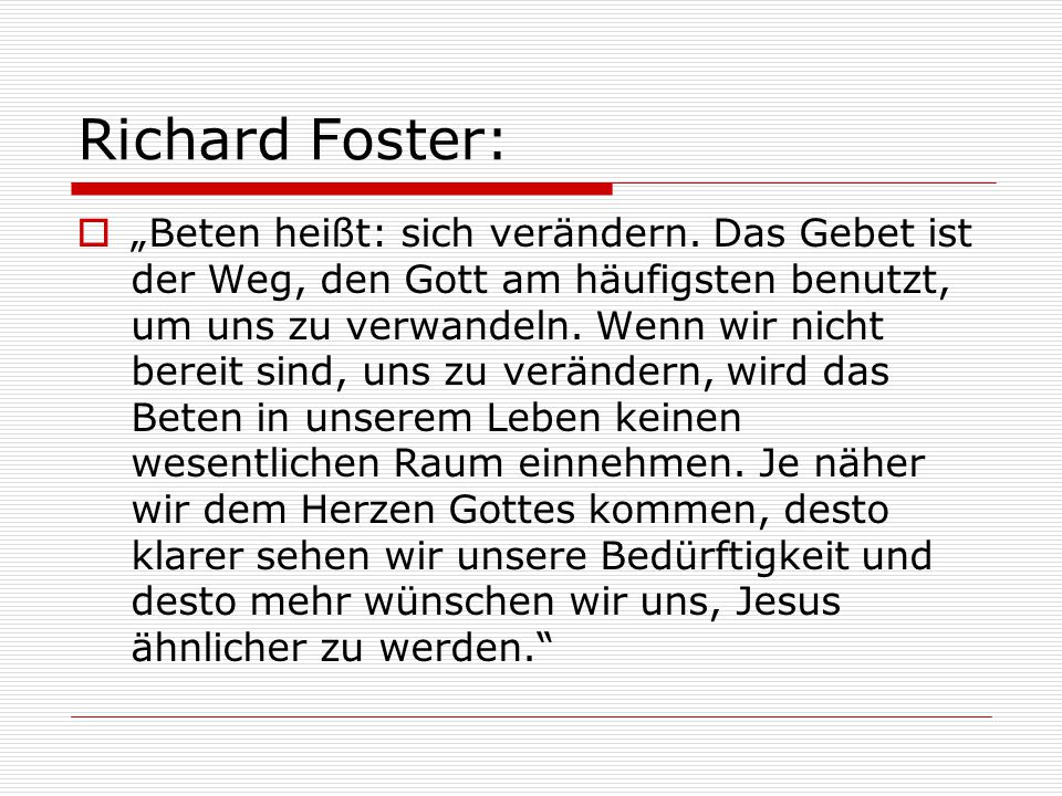 Richard Foster: