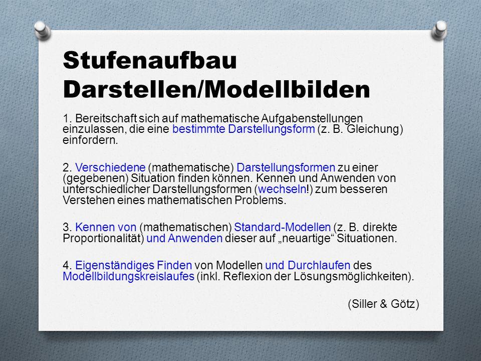 Stufenaufbau Darstellen/Modellbilden