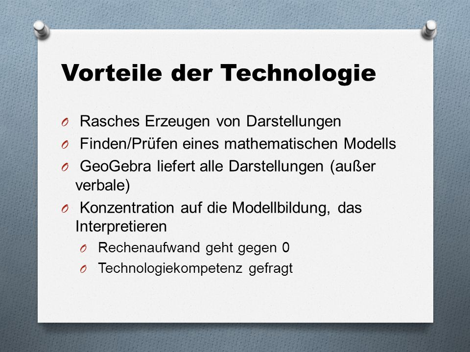 Vorteile der Technologie