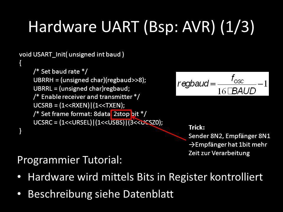 Hardware UART (Bsp: AVR) (1/3)